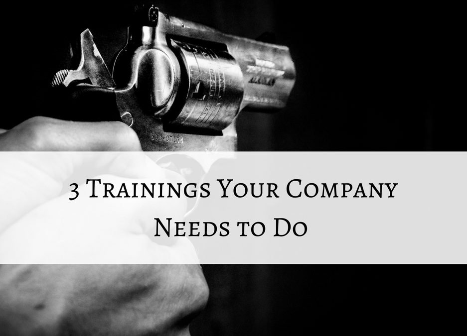 3 Trainings Your Company Needs This Year