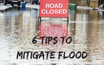 6 Tips to Mitigate Flood Damage