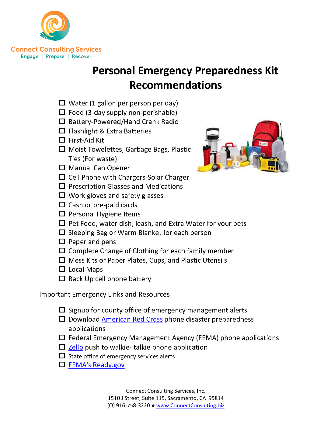 CCS Emergency Preparedness Kit