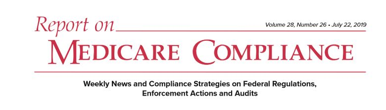 Report on MEDICARE COMPLIANCE